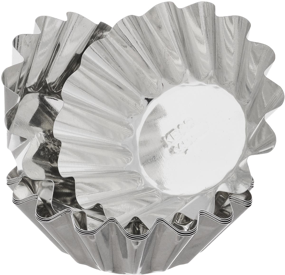 Набор форм для выпечки Кварц, диаметр 9,5 см, 6 шт набор форм для выпечки metaltex 6 шт 25 91 24