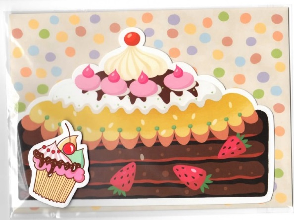 Открытка тортика