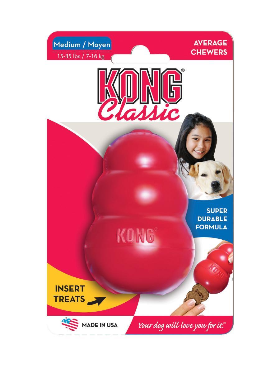 Игрушка для собак Kong Classic, средняя, 8,5 х 5,5 см игрушка для собак kong косточка средняя с пищалкой цвет фиолетовый 15 5 х 6 5 х 3 5 см