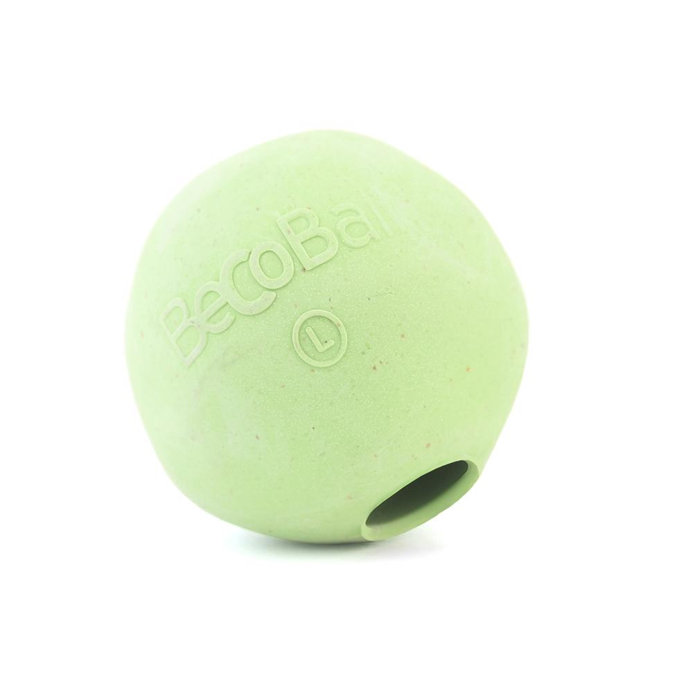 Игрушка для собак BecoThings Мяч, цвет: зеленый, 7 см фишер fisher price игрушки животных познание детские игрушки мяч мяч мяч детские погремушки f0807