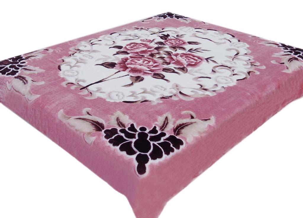 Плед Tamerlan, нестриженый, цвет: розовый, 200 х 240 см. 63498 плед tamerlan плед payton 150х200 см