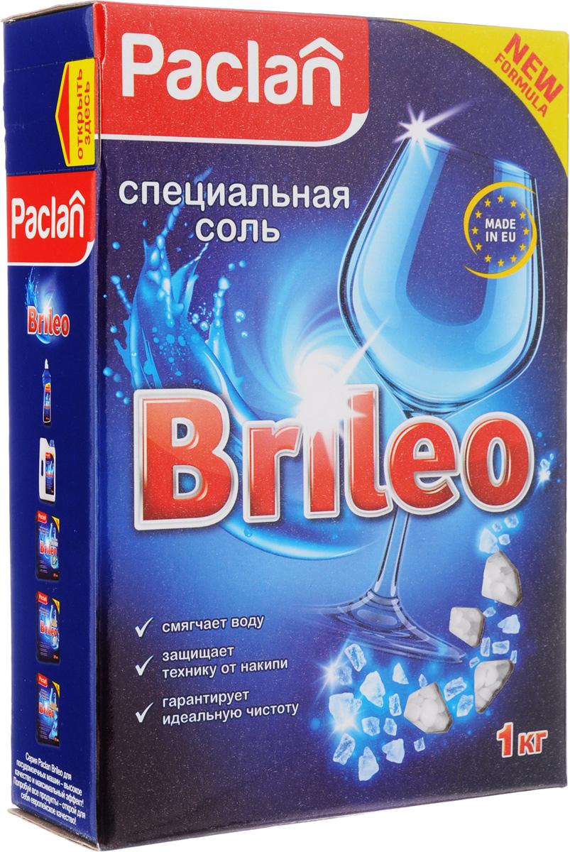 Соль специальная для посудомоченых машин Paclan Brileo, 1 кг paclan brileo таблетки для посудомоечных машин classic 80 шт