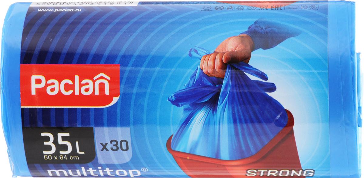 Мешки для мусора Paclan Multitop, 35 л, 30 шт набор мешочков для завтрака paclan 17 см х 24 см 50 шт