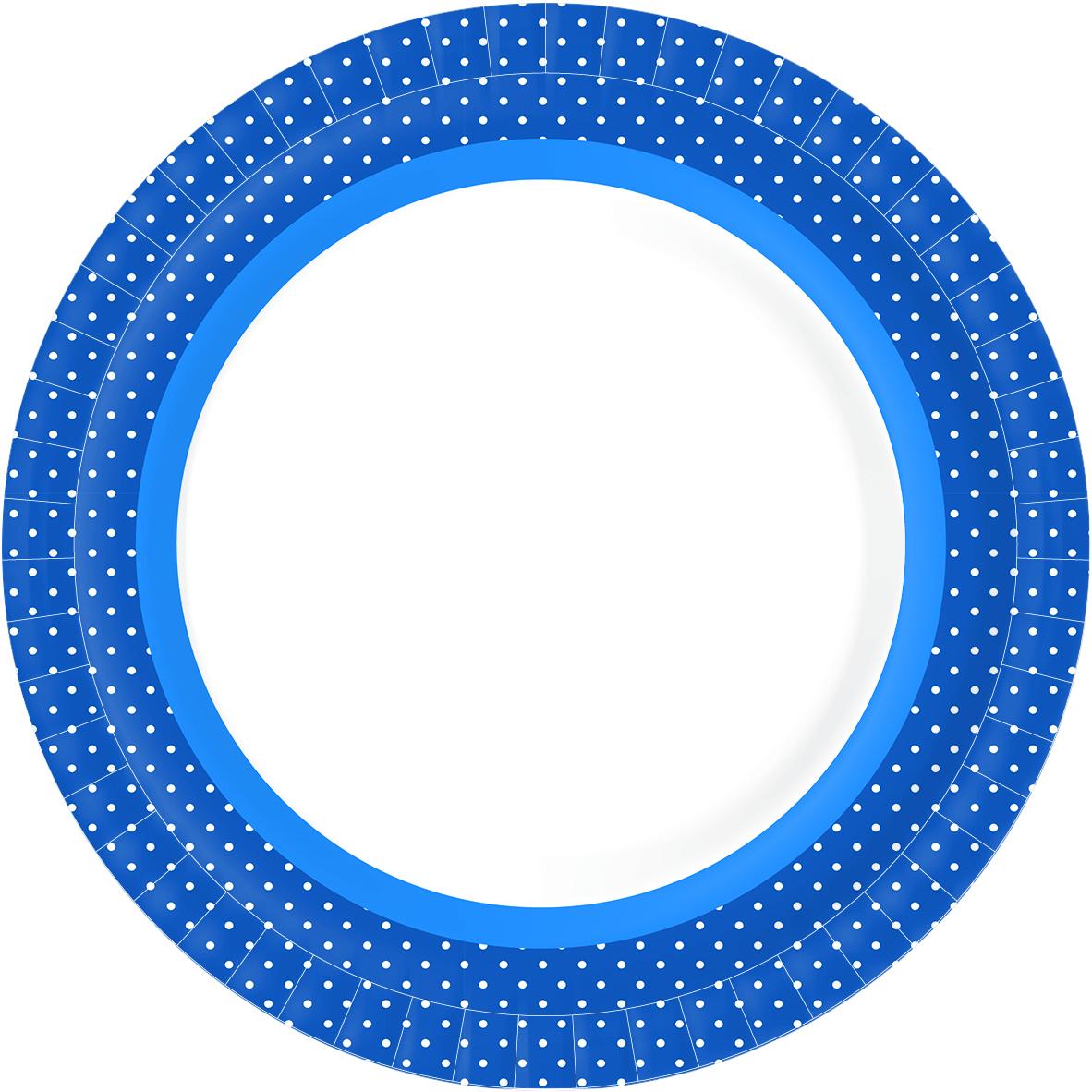 """Набор тарелок Duni """"Bbq Blue Line"""", бумажные, 22 см , 10 шт"""