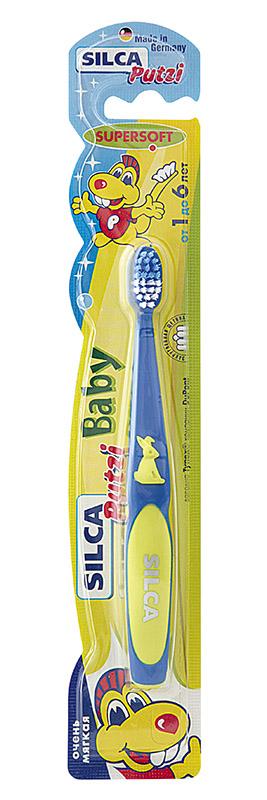 Зубная щетка Silca Baby Rabbit, в ассортименте silca dent зубная щетка детская от 2 до 7 лет цвет синий