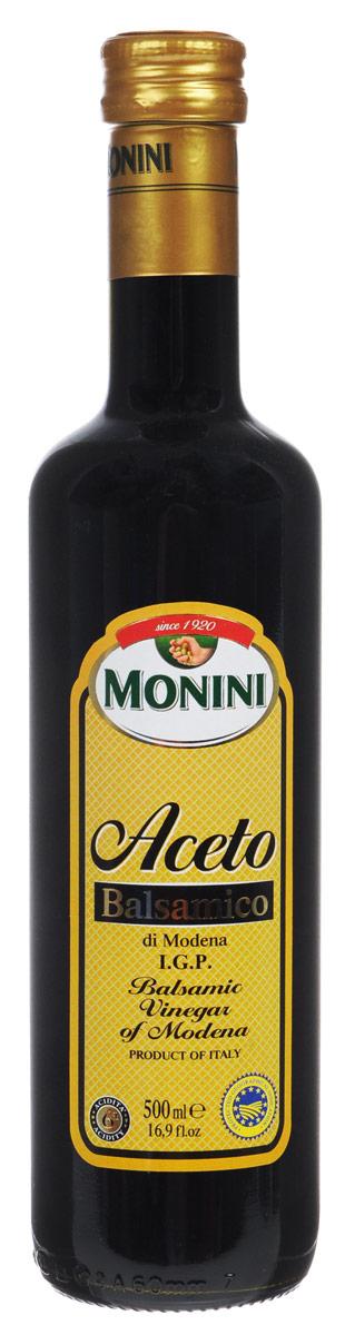 Monini Aceto Balsamico уксус винный бальзамический, 500 мл0560096/2Винный бальзамический уксус Monini Aceto Balsamico выдерживается в деревянных бочках не менее 3 лет. Благодаря прекрасному вкусу и аромату, он идеально подходит для маринадов, десертов, закусок и других блюд. Кислотность: 6%
