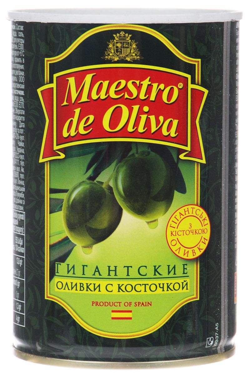 Maestro de Oliva оливки гигантские с косточкой, 420 г d oliva
