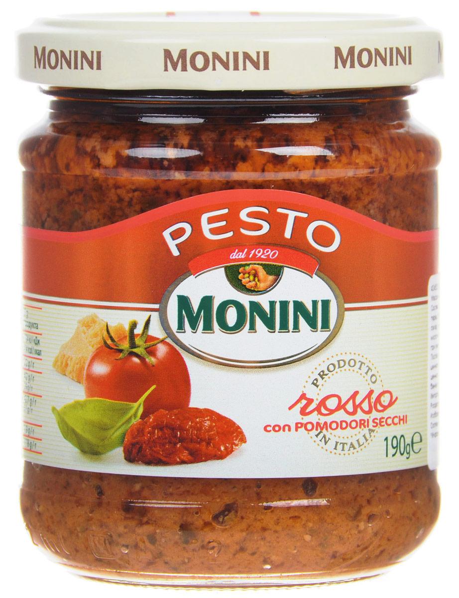 Monini Pesto Rosso соус песто томатный, 190 г romeo rossi соус томатный для пасты овощной 350 г