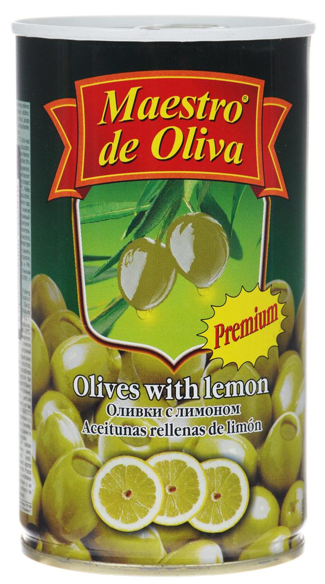 Maestro de Oliva оливки крупные с лимоном, 350 г цена
