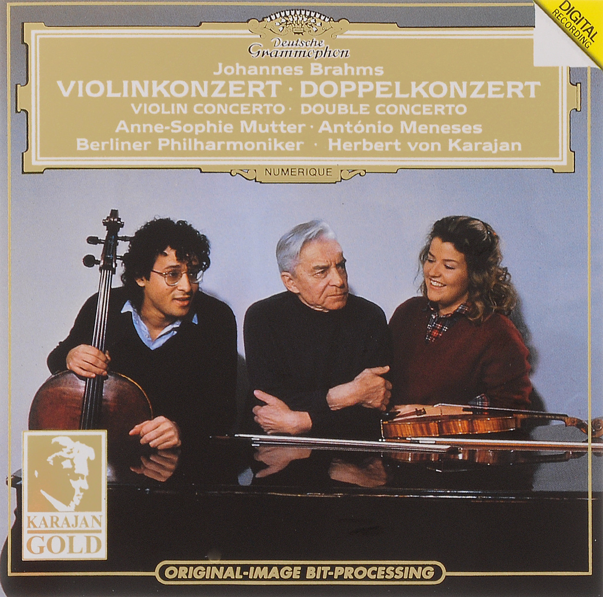 Анна-Софи Муттер,Антонио Менесес,Berliner Philharmoniker Herbert Von Karajan. Johannes Brahms. Violinkonzert / Doppelkonzert цена и фото