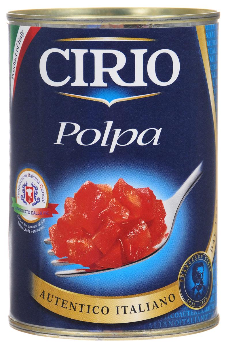 Cirio Polpa томаты очищенные резаные, 400 г vegda томаты очищенные италия 425 мл