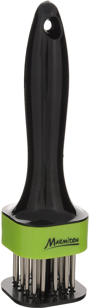 """Стейкер для мяса """"Marmiton"""", цвет: черный, салатовый, высота 18 см"""