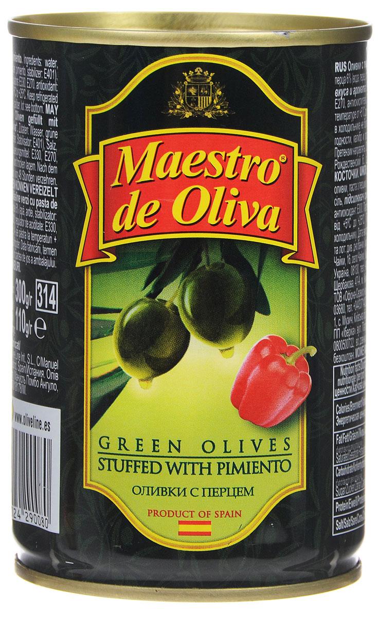 Maestro de Oliva оливки с перцем, 300 г d oliva