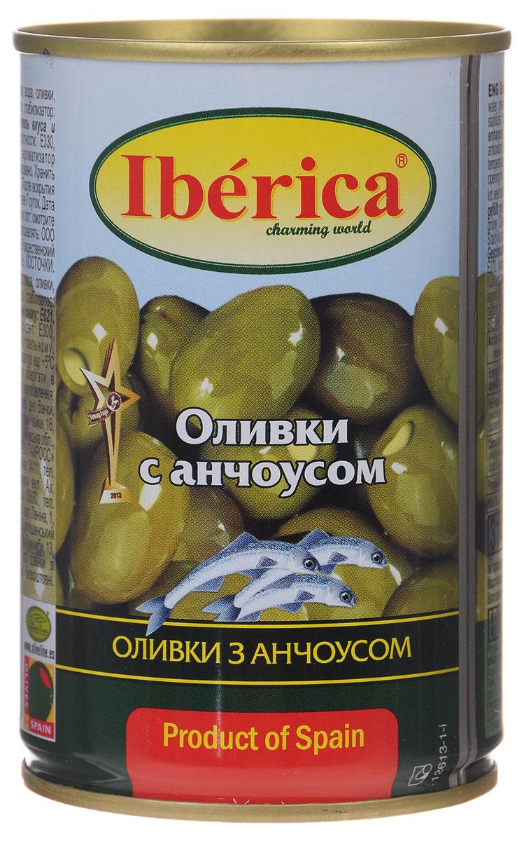 Iberica оливки с анчоусом, 300 г цена и фото