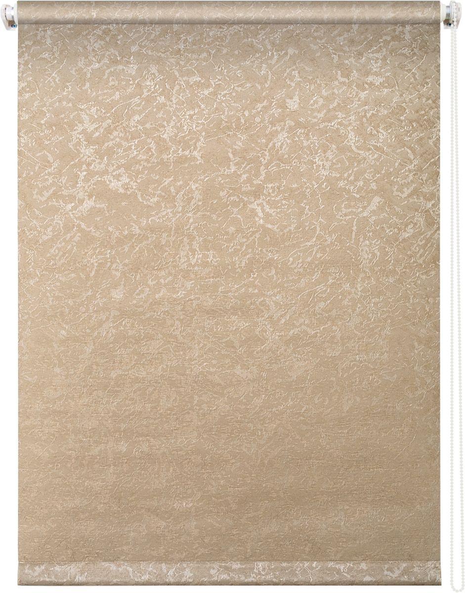 Штора рулонная Уют Фрост, цвет: латте, 140 х 175 см62.РШТО.7659.140х175Штора рулонная Уют Фрост выполнена из прочного полиэстера с обработкой специальным составом, отталкивающим пыль. Ткань не выцветает, обладает отличной цветоустойчивостью и светонепроницаемостью. Штора закрывает не весь оконный проем, а непосредственно само стекло и может фиксироваться в любом положении. Она быстро убирается и надежно защищает от посторонних взглядов. Компактность помогает сэкономить пространство. Универсальная конструкция позволяет крепить штору на раму без сверления, также можно монтировать на стену, потолок, створки, в проем, ниши, на деревянные или пластиковые рамы. В комплект входят регулируемые установочные кронштейны и набор для боковой фиксации шторы. Возможна установка с управлением цепочкой как справа, так и слева. Изделие при желании можно самостоятельно уменьшить. Такая штора станет прекрасным элементом декора окна и гармонично впишется в интерьер любого помещения.