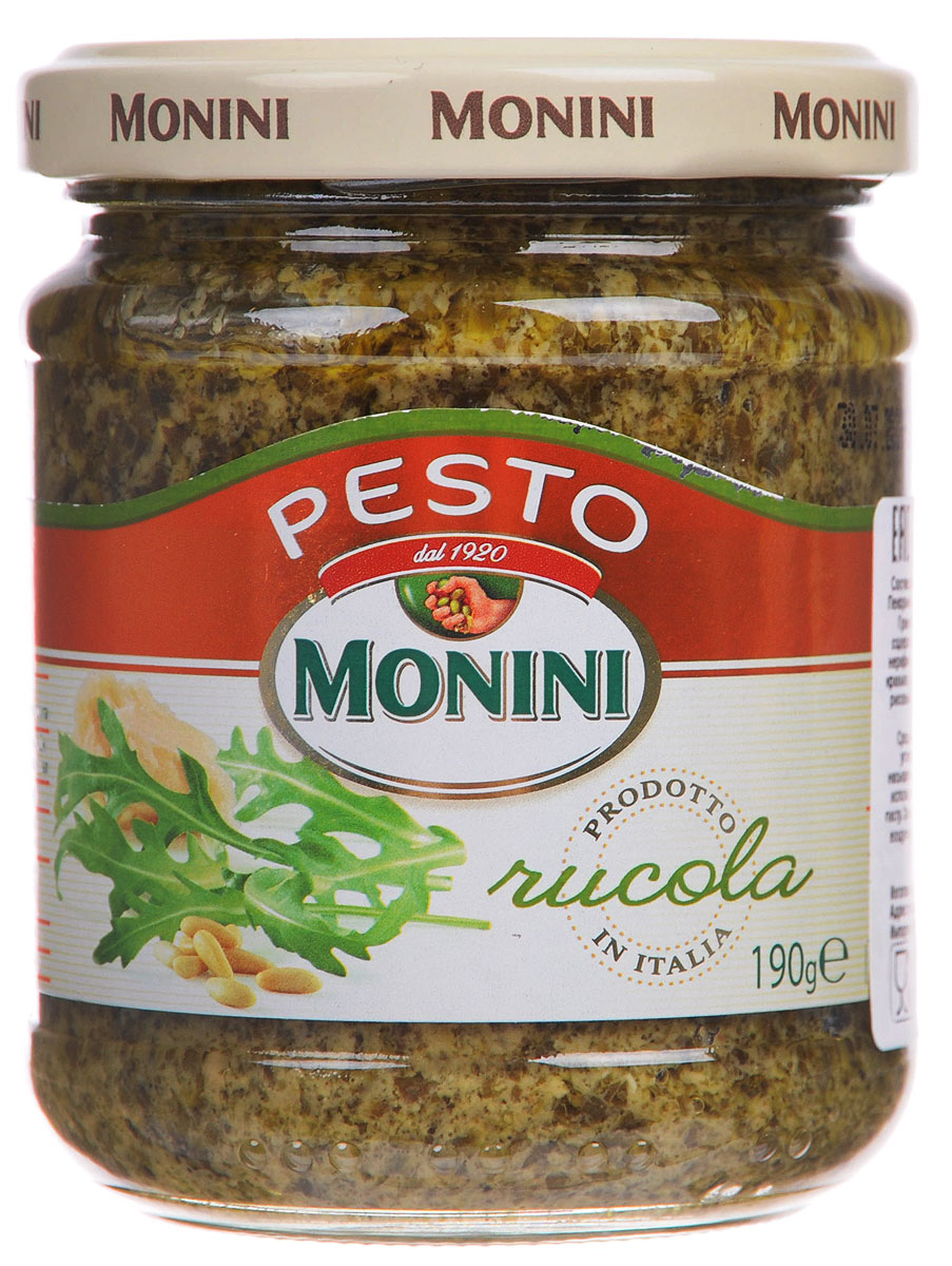 Monini Pesto Alla Rucola соус песто рукола, 190 г соус паста pearl river bridge hoisin sauce хойсин 260 мл