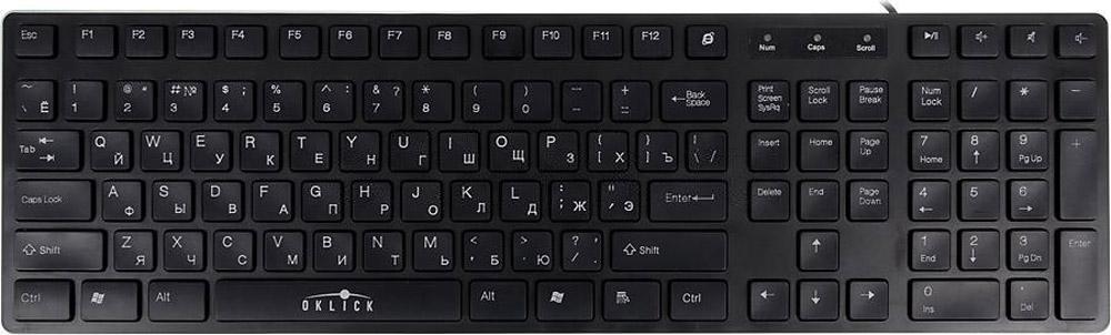 Oklick 570M, Black клавиатура цена