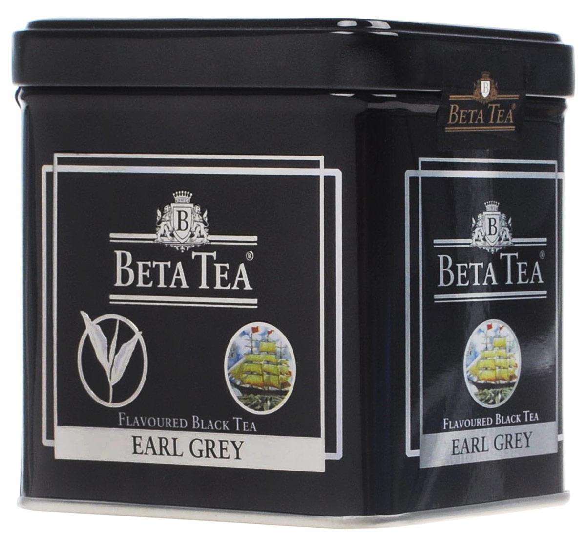 Beta Tea Earl Grey черный листовой чай, 100 г (жестяная банка) beta tea отборное качество черный листовой чай 100 г
