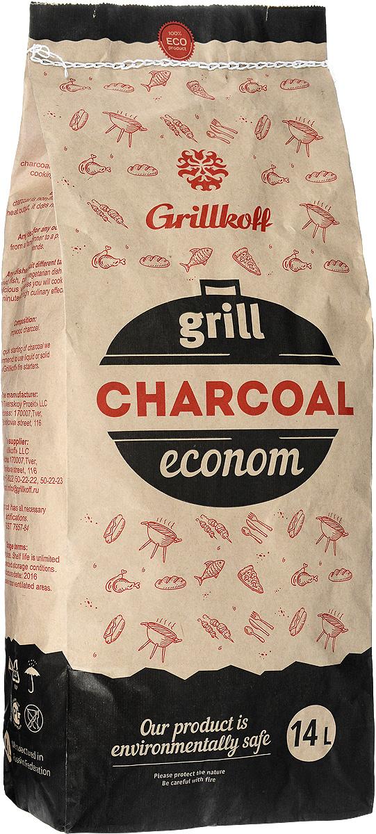 Уголь березовый Грилькофф Эконом, для гриля, 14 л уголь древесный для гриля grillkoff эконом 10 л
