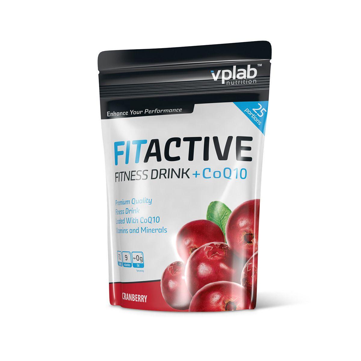 Изотоник VPLab FitActive Fitness Drink +CoQ10, клюква, 500 г coq10 для кожи