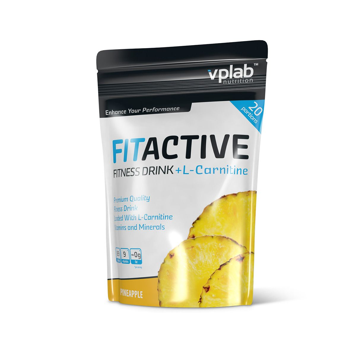 "Карнитин VPLab ""FitActive Fitness Drink + L-Carnitine"", ананас, 500 г"