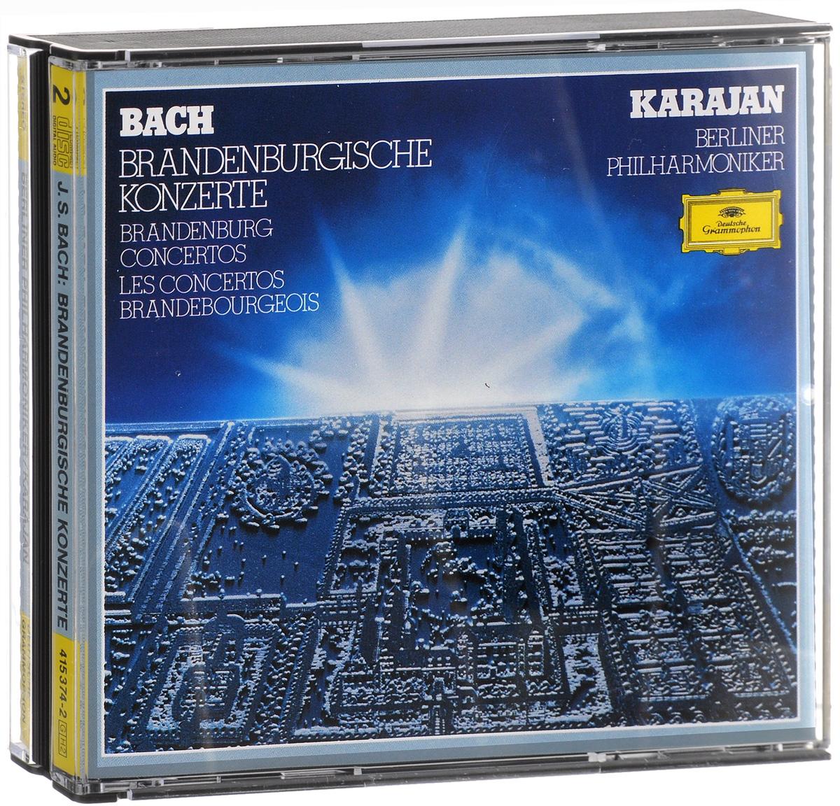 Герберт Караян,Berliner Philharmoniker Karajan. J. S. Bach. Brandenburgische Konzerte (2 CD) w middelschulte konzert uber ein thema von j s bach