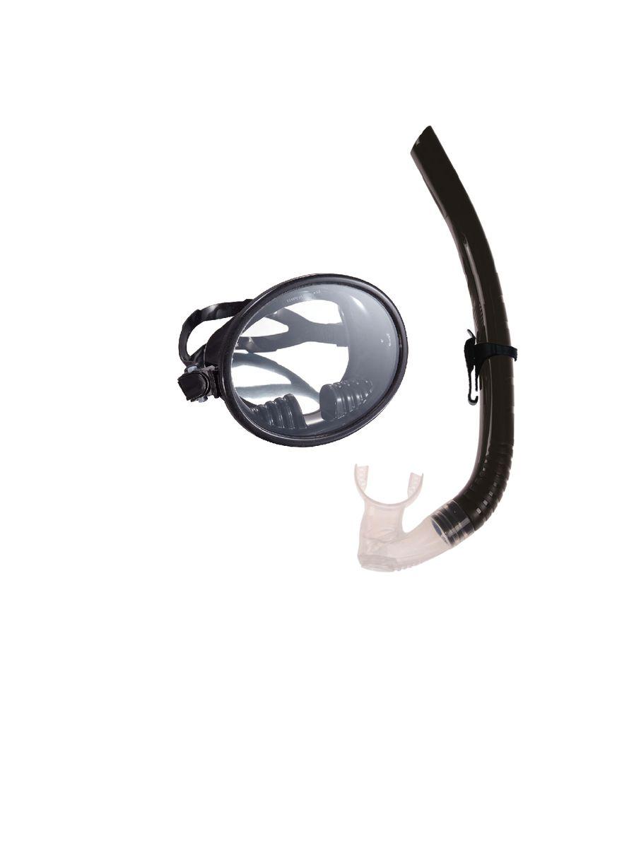Комплект для плавания WAVE: маска, трубка, цвет: черный. MS-1332S66 маска для плавания wave цвет черный m 1314