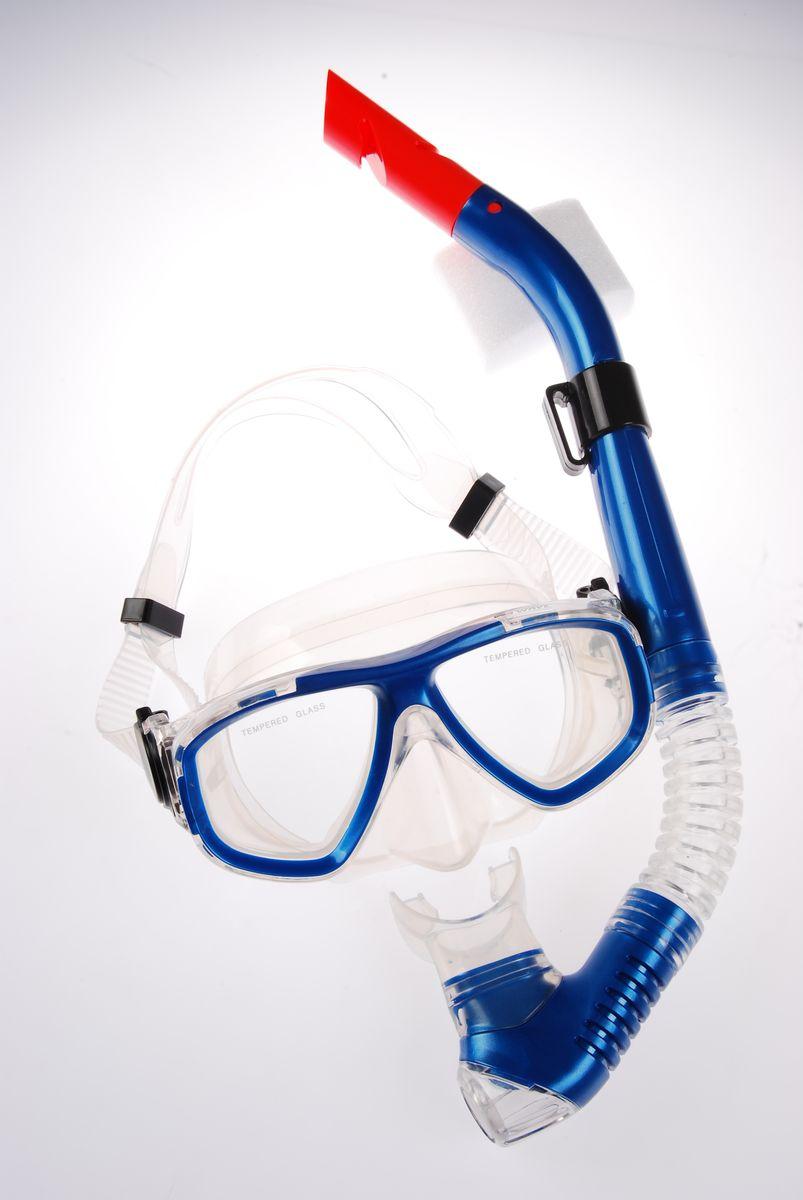 Комплект для плавания WAVE: маска, трубка, цвет: синий. MS-1359S40MS-1359S40Комплект для плавания WAVE- профессиональная серия масок и трубок. В комплект для плавания входят: маска и трубка. Маска: плоский дизайн и широкий угол обзора практически на 180 градусов (увеличение периферического зрения). Монолинза из закаленного стекла. Обтюратор маски из гипоалергенного силикона, препятствует проникновению воды внутрь маски. Если вода попала под маску, то все что необходимо сделать для удаления воды - это выдох носом. При этом автоматически уравнивается давление под маской с давлением окружающей среды. Регулируемый силиконовый ремешок, препятствует скольжению. Трубка: специальная конструкция трубки предохраняет от попадания воды при погружении под воду. Мягкий эластичный силиконовый загубник, свободно меняющий положение. Силиконовый клапан для продувки трубки от воды Вес:480 гр Размер маски: 15,6 x 8 x 11 см Длина трубки: 39 см Рекомендуем!