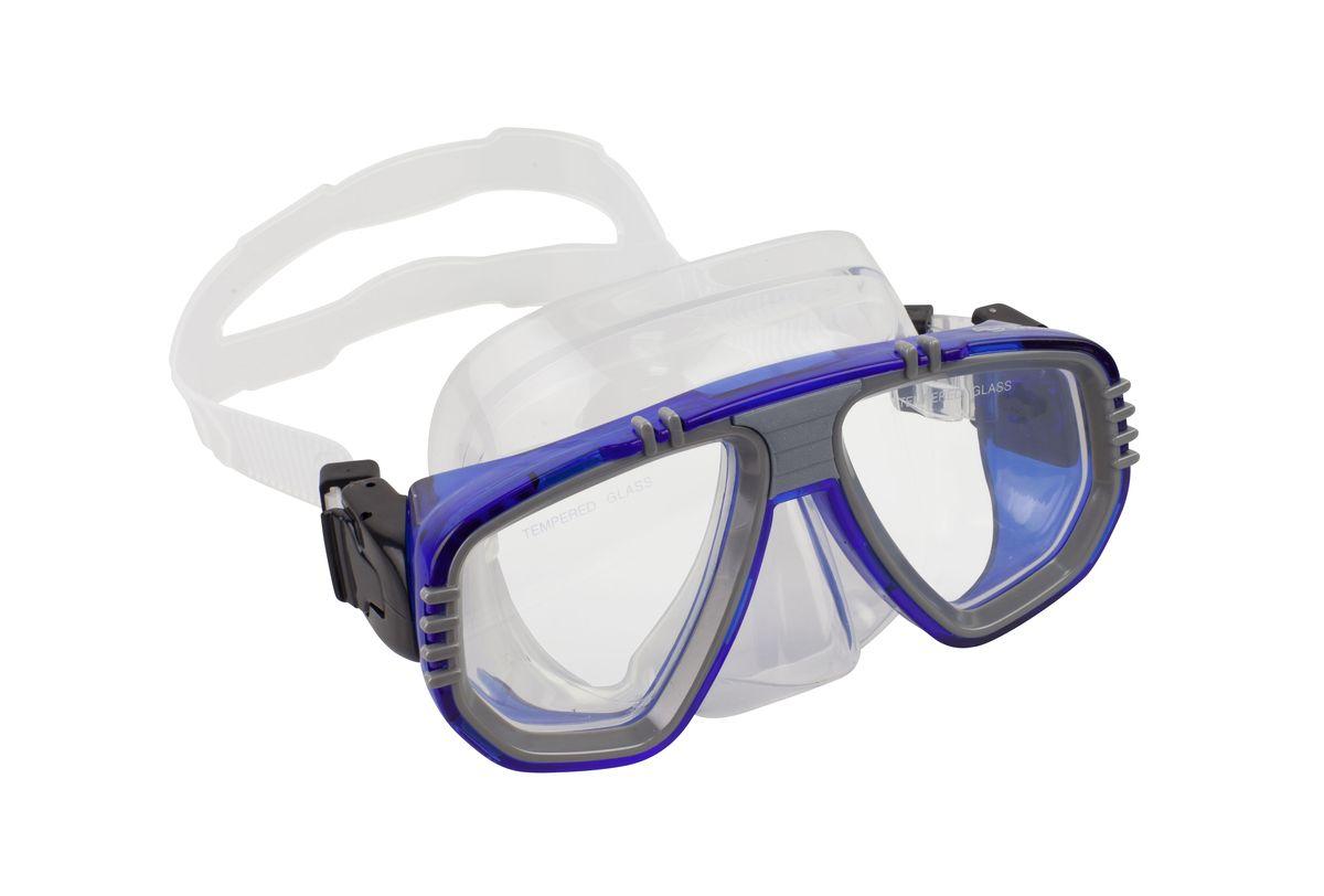 Маска для плавания WAVE, цвет: синий. M-1313 маска для плавания wave цвет черный m 1314