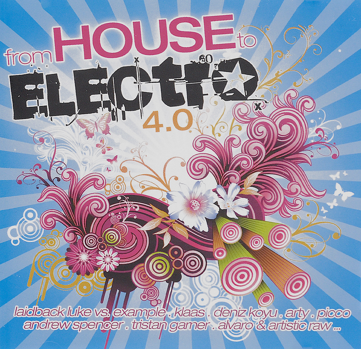Laidback Luke,Example,Нильс Ван Гог,Klaas,Quintino,Tommy Trash,EDX,Рене де ла Моне,Alvaro,Ralvero,Эндрю Спенсер,Deniz Koyu,Джон Дэлбэк,G&G,P.s.y.,Флориан Арндт,Тристан Гарнер,Jordy Lishious,Froidz,Джесс Воорн From House To Electro 4.0 (2 CD) electro house 2015 2 cd