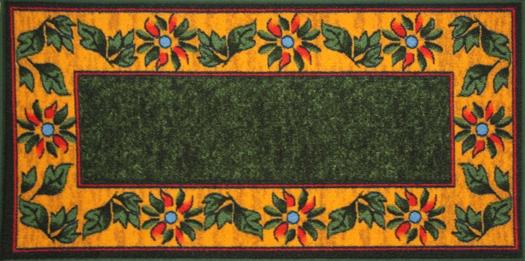Коврик для ванной MAC Carpet Розетта, цвет: зеленый, 57 х 115 см коврик для ванной mac carpet розетта цвет коричневый розовый 57 х 60 см