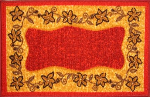 Коврик для ванной MAC Carpet Розетта, цвет: красный, 44 х 70 см коврик для ванной mac carpet розетта цвет коричневый розовый 57 х 60 см