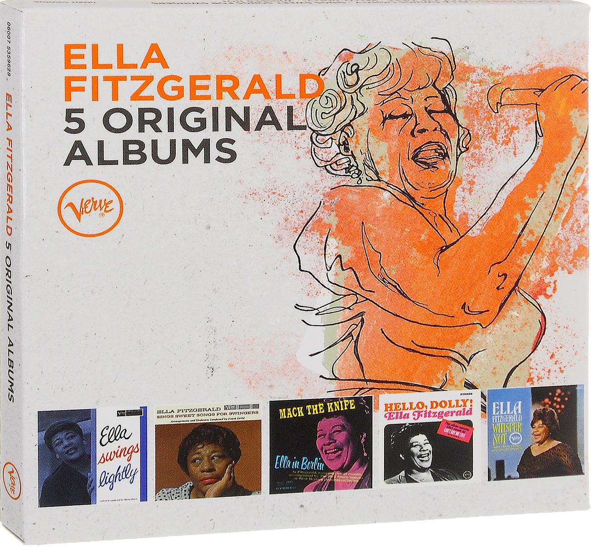 цена Элла Фитцжеральд Ella Fitzgerald. 5 Original Albums (5 CD) в интернет-магазинах