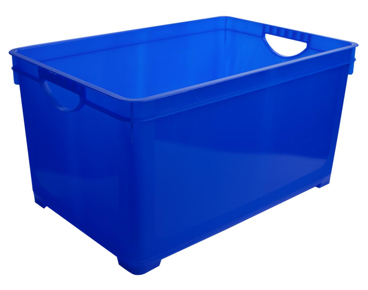 Ящик для хранения BranQ, цвет: синий, 48 л ящик для хранения branq optima на колесиках цвет синий прозрачный 57 л