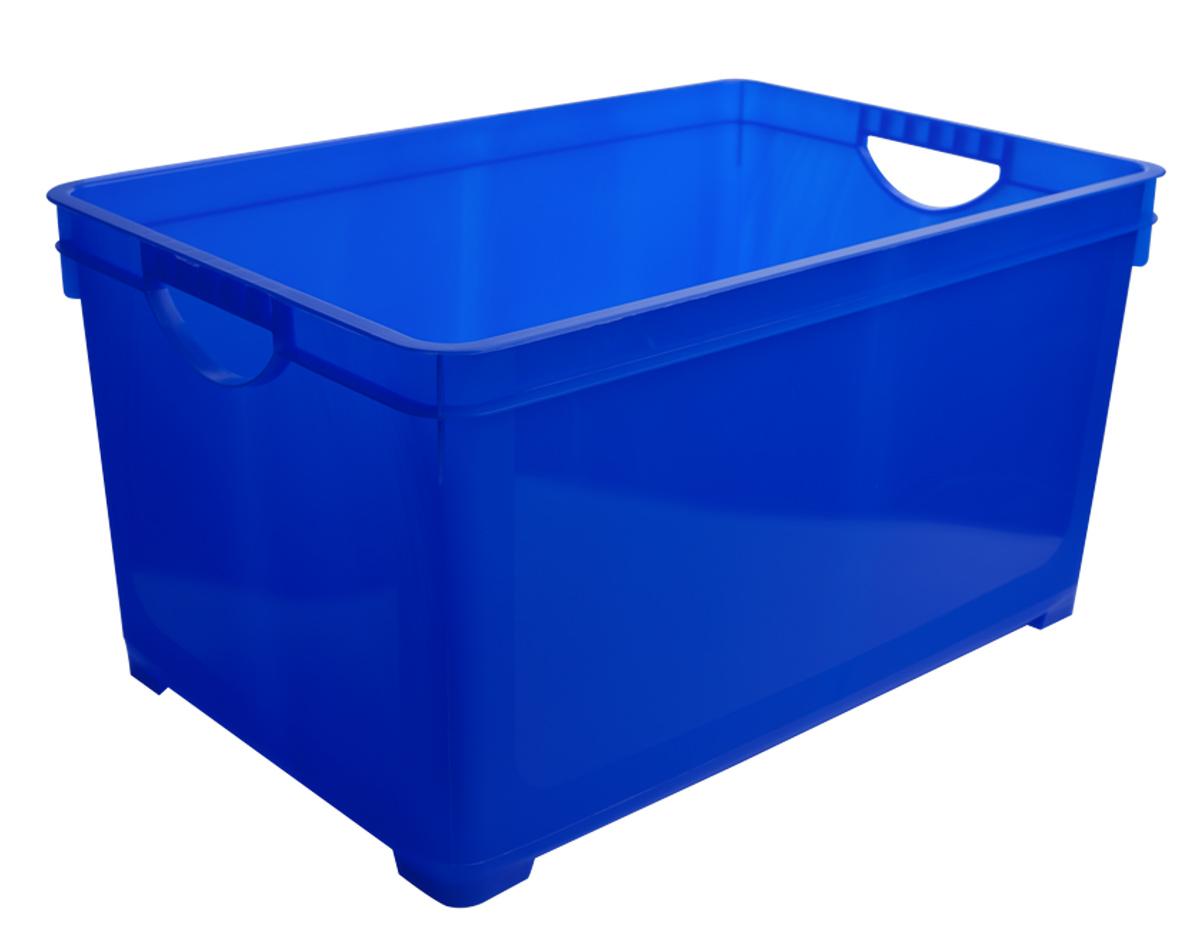 Ящик для хранения BranQ, цвет: синий, 5 л ящик для хранения branq optima на колесиках цвет синий прозрачный 57 л