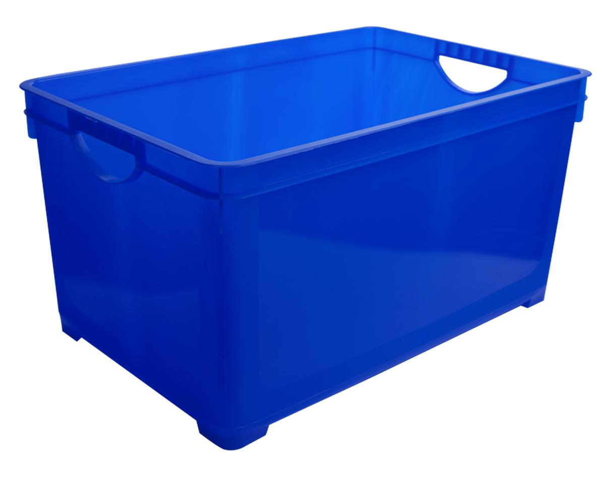 Ящик для хранения BranQ, цвет: синий, 19 л ящик для хранения branq optima на колесиках цвет синий прозрачный 57 л