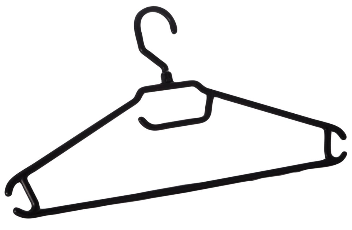 """Вешалка для одежды """"BranQ"""", цвет: черный, размер 48-50"""