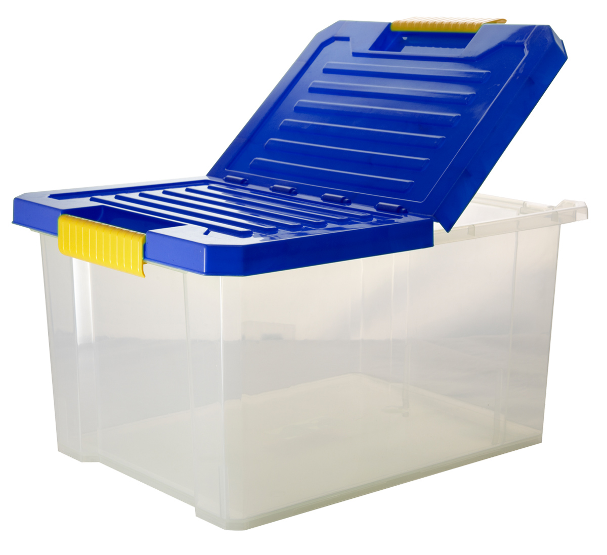 Ящик для хранения BranQ Unibox, цвет: синий, прозрачный, 17 л ящик для хранения branq optima на колесиках цвет синий прозрачный 57 л