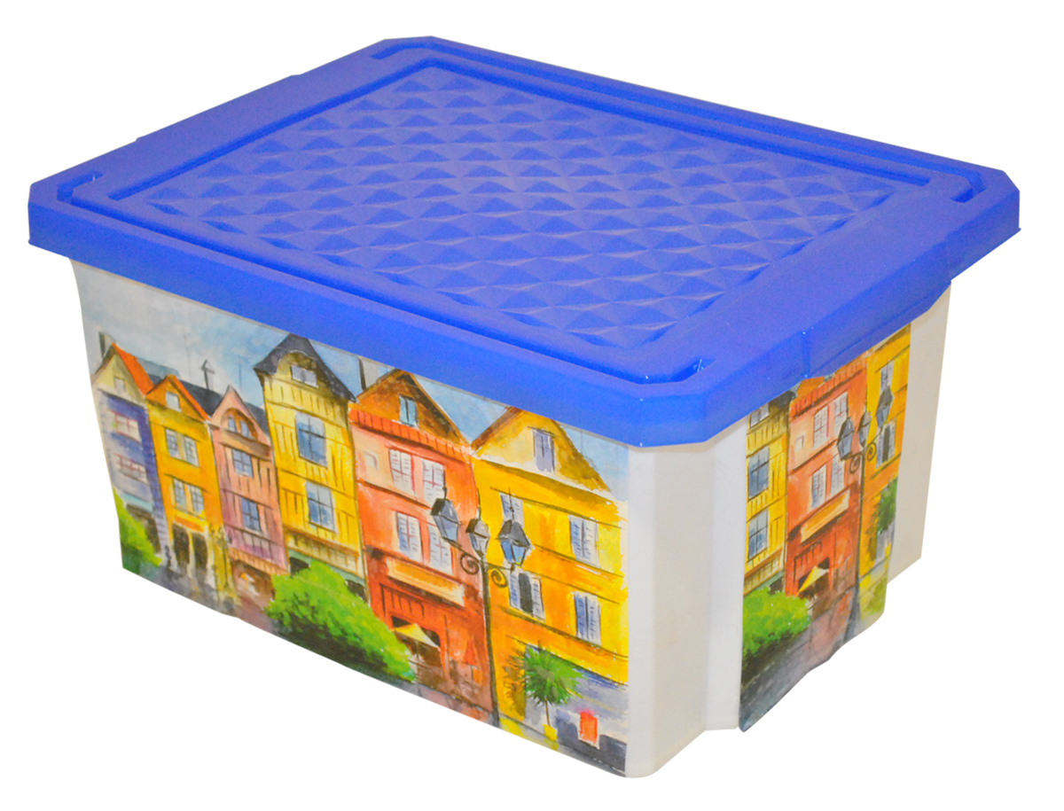 Ящик для хранения BranQ Optima. Город, 12 л ящик для хранения branq optima на колесиках цвет синий прозрачный 57 л
