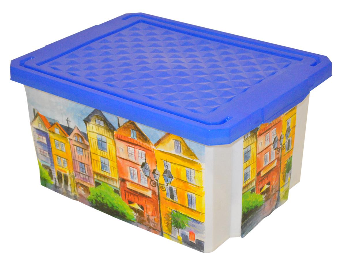 Ящик для хранения BranQ Optima. Город, 17 л ящик для хранения branq optima на колесиках цвет синий прозрачный 57 л