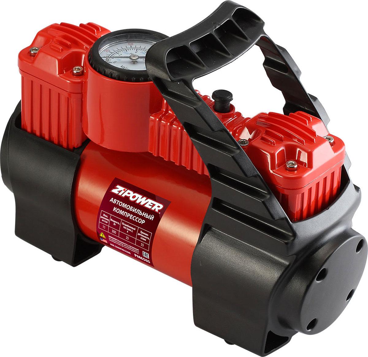 Компрессор автомобильный Zipower, с манометром. PM 6505