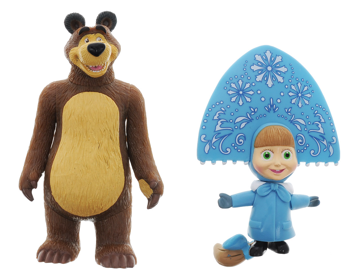 все цены на Играем вместе Набор фигурок Маша-Снегурочка и Медведь онлайн