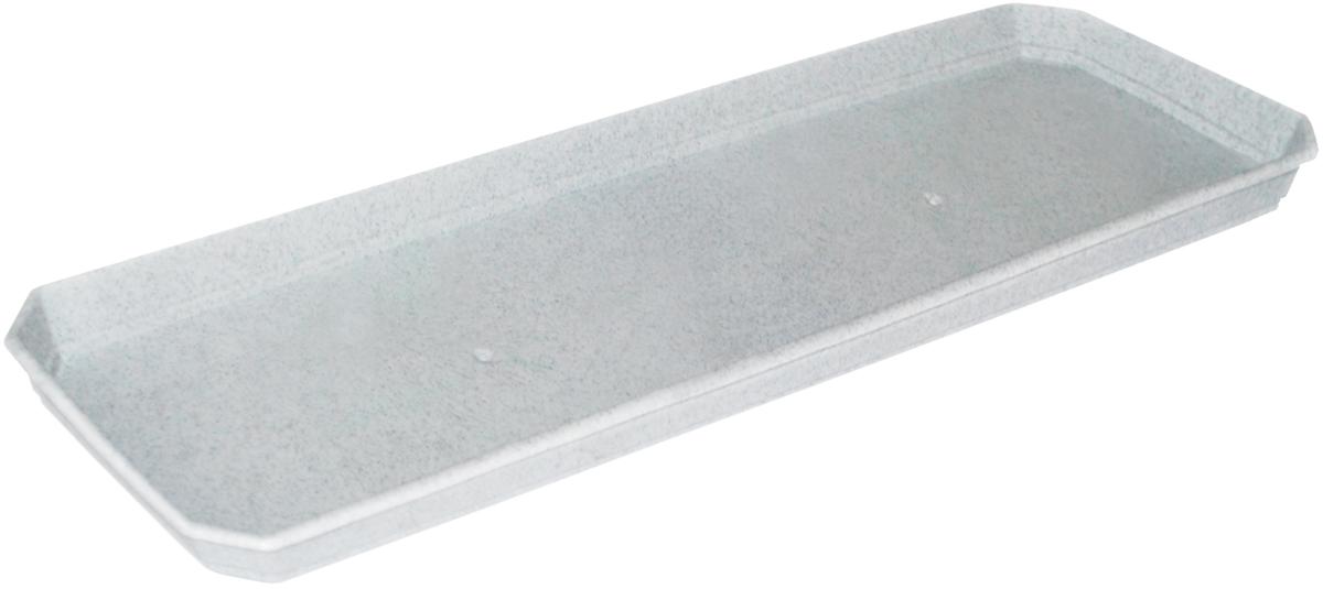 Поддон для балконного ящика InGreen, цвет: мраморный, длина 40 см поддон для балконного ящика ingreen цвет белый длина 40 см