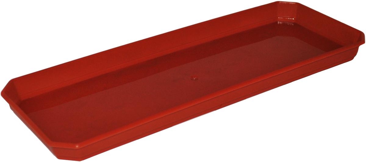 Поддон для балконного ящика InGreen, цвет: терракотовый, длина 40 см поддон для балконного ящика ingreen цвет белый длина 40 см