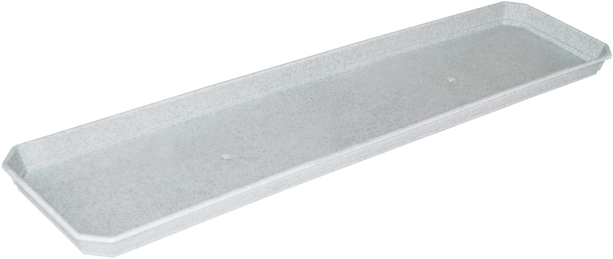 Поддон для балконного ящика InGreen, цвет: мраморный, длина 60 см поддон для балконного ящика ingreen цвет зеленый длина 60 см