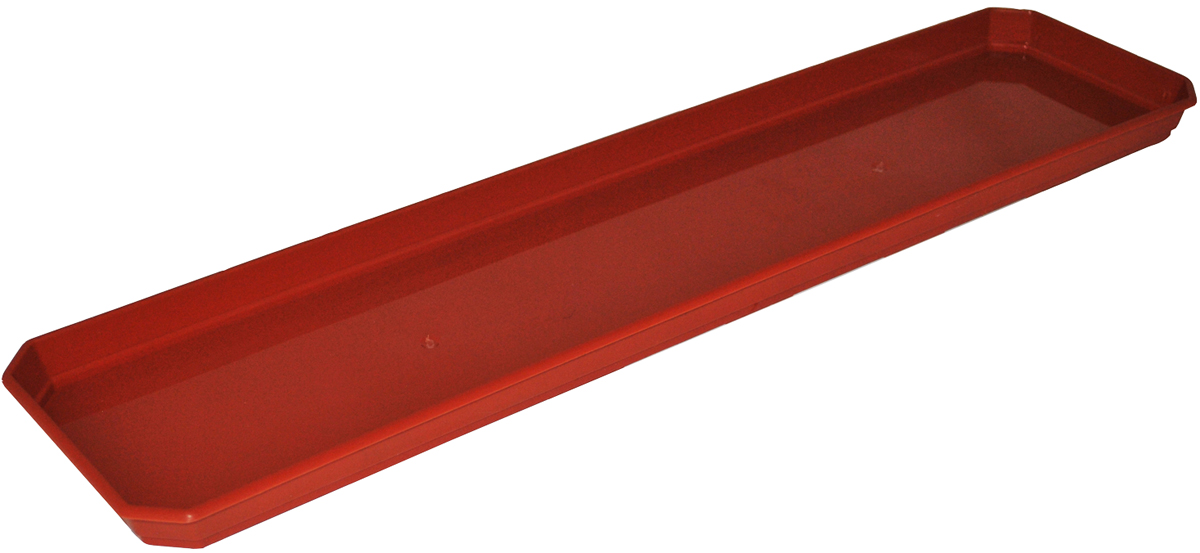Поддон для балконного ящика InGreen, цвет: терракотовый, длина 60 см поддон для балконного ящика ingreen цвет белый длина 40 см