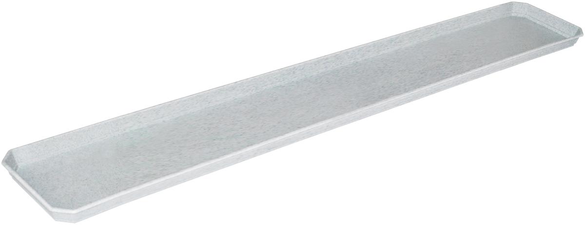 Поддон для балконного ящика InGreen, цвет: мраморный, длина 80 см поддон для балконного ящика ingreen цвет белый длина 80 см