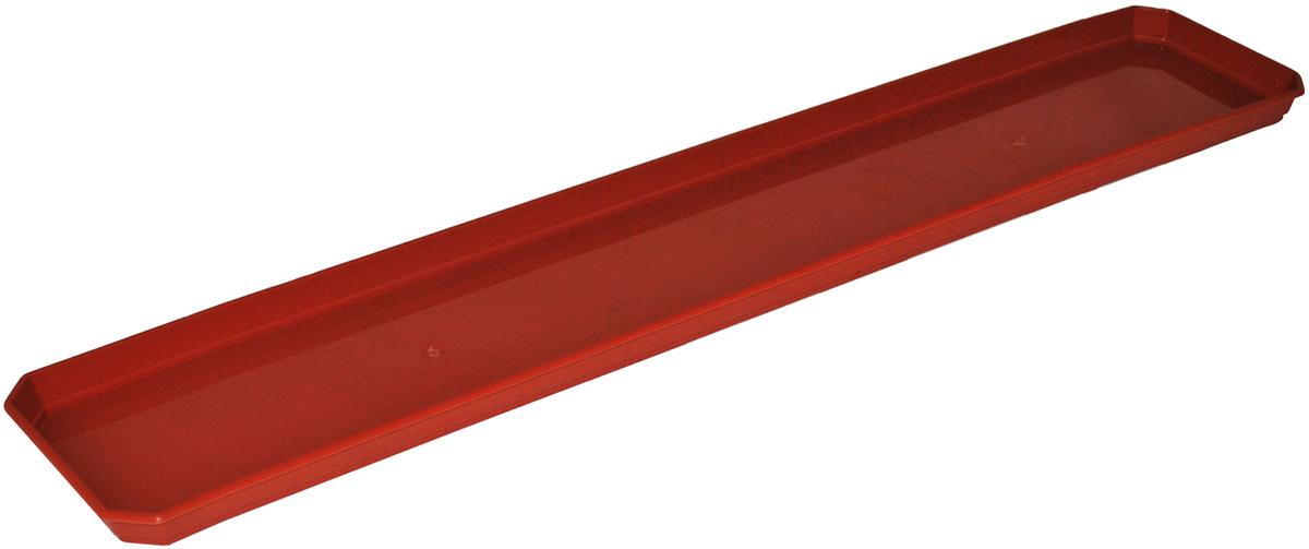 Поддон для балконного ящика InGreen, цвет: терракотовый, длина 80 см поддон для балконного ящика ingreen цвет белый длина 40 см