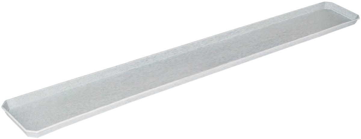 Поддон для балконного ящика InGreen, цвет: мраморный, длина 100 см поддон для балконного ящика ingreen цвет зеленый длина 60 см