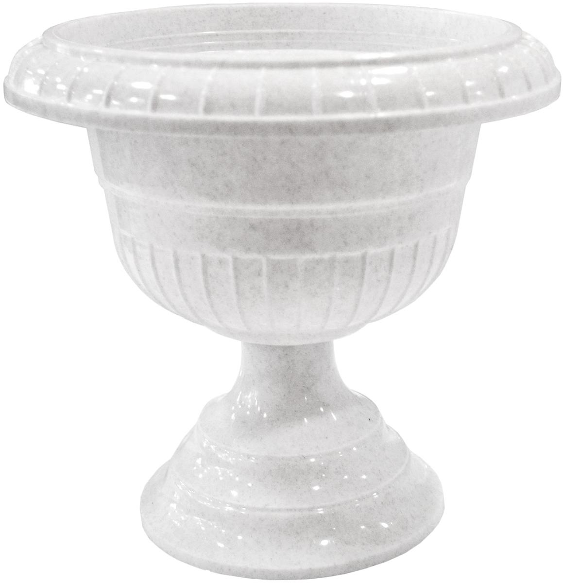 Вазон InGreen, цвет: мраморный, высота 24,5 см поддон для балконного ящика ingreen цвет белый длина 60 см